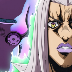 Moved by Giorno's actions, Abbacchio shows his Stand, <a href=