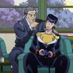 Josuke being threatened/pranked by Ryohei.