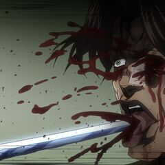 Devo being stabbed by <a href=