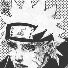 Naruto's 10th Anniversary art drawn by Araki