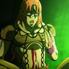 Diavolo realizing he's been stabbed