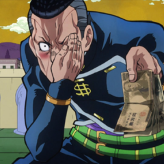Okuyasu baits Shigechi closer to him with cash.