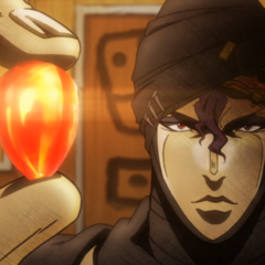 Kars holding an imperfect Red Stone of Aja
