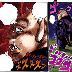 Shigechi covets Okuyasu and Josuke's fortune.