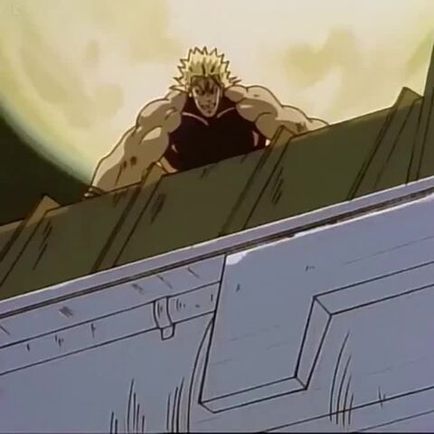 Dio, about to crush Jotaro with an oil tanker