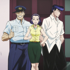 A young Josuke with his <a class=