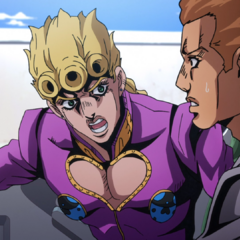 Giorno yells at a truck driver