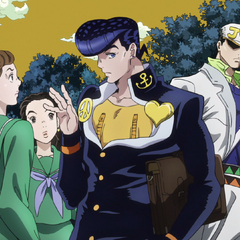 Josuke and his female admirers.