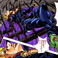Narancia's death in Giorno's body