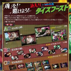 F-Mega Minigame prize chart