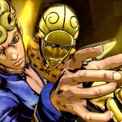 Giorno executing his HHA, <i>ASB</i>