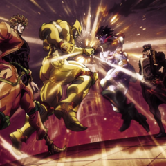 DIO and Jotaro face off