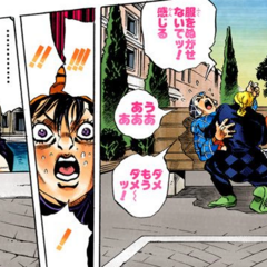 Caught off-guard by Giorno healing Mista
