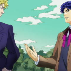 Jonathan greets Dio in his house