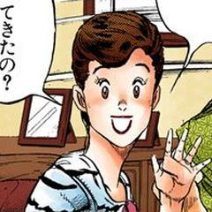 Happily greeting Koichi