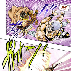 Avdol sacrifices himself protecting Polnareff from <a href=