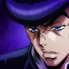 Josuke laments over Shigechi's death.