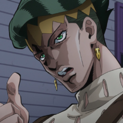 Rohan explains to Josuke he's only playing with him to take his cash away.