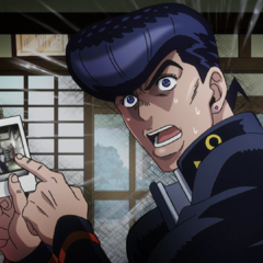 Josuke telling Okuyasu to take <a class=