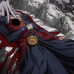 Тело Абаккио лежит на камне