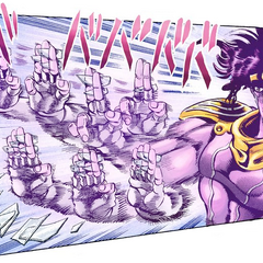 Star Platinum catches all the glass shards
