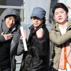 Араки с Юсеем Мацуи и Юто Цукуда(Shokugeki no Soma) for
