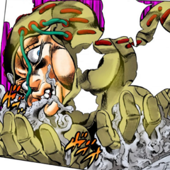 Secco stuffs liquefied pavement in his mouth...