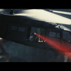 Bad Company soldiers use a helicopter in search of <a href=