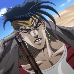 N'Doul using his cane as sonar