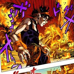 Narancia setting fire to a whole street to find <a href=