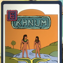 A card of Khnum