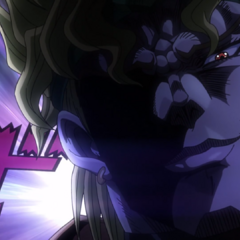 DIO smiles confidently at Polnareff