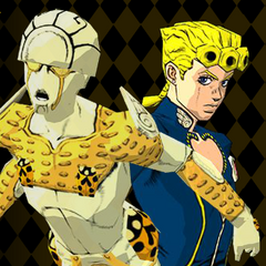 Gold Experience with Giorno in the <i><a href=