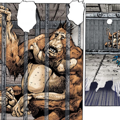 Forever's first appearance, in his cage