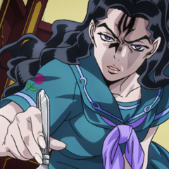 Yukako forces Koichi to eat asparagus wrapped with dictionary pages.