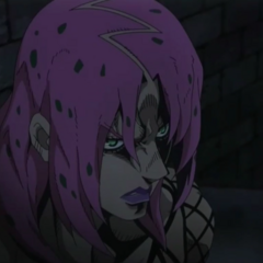 Diavolo continuing to talk to Polnareff