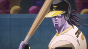 SC ep41 star platinum baseball