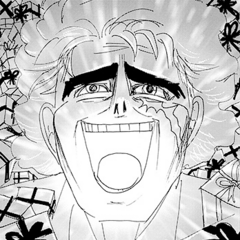 An overjoyed Speedwagon after discovering Lisa Lisa is pregnant