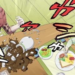 Shinobu accidentally breaks her teapot.