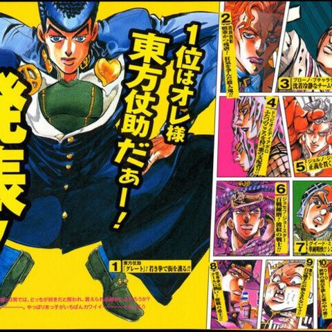 Diavolo listed as Araki's fourth favorite character in 2000
