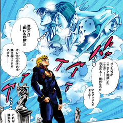 Giorno looks on, remembering his friends and their sacrifices