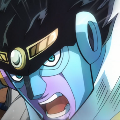 Star Platinum about to throw a punch.