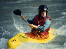 Whitewater kayaking Isere