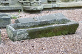 Holyrood Abbey nave coffin