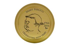 The True History of St. Fidgeta, Virgin and Martyr (2016 emblem)