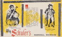 Schuler's Restaurant Dickens postcard - gamp-dawkins