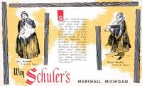 Schuler's Restaurant Dickens postcard - bardell-buzfuz