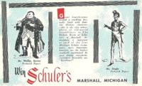 Schuler's Restaurant Dickens postcard - weller-jingle