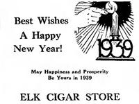 Elks Cigar Store (1938 ad)