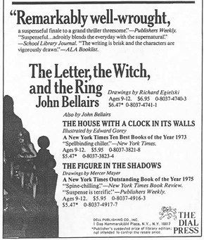 Letter, the Witch, and the Ring (advert) (US, 1976)